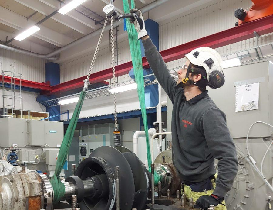 Renovering av Rya HVC nätpump KSB RDL Pumphuset Pumpservice